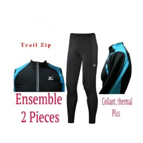 ENSEMBLE MIZUNO 1/ZIP TRAIL RUN + COLLANT THERMAL+