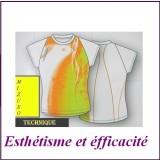 Tee Shirt Carline Mizuno 012356 orange blc
