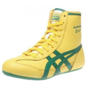 Chaussures onitsuka tigger wrestling yellow tout cuir