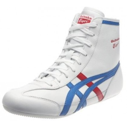 Chaussures onitsuka tigger wrestling white black tout cuir