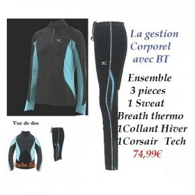 Ensemble Mizuno 3 Pieces Gestion Corporel Breath thermo Du XS AU M